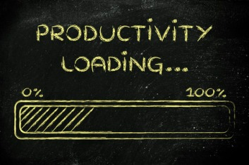 40805334 - progress bar, funny design with concept of productivity loading